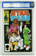 Modern Age (1980-Present):Science Fiction, Star Wars #107 (Marvel, 1986) CGC NM 9.4 White pages. WhilcePortacio art. Final issue. Low distribution. Overstreet 2005 NM...