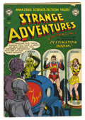 Golden Age (1938-1955):Science Fiction, Strange Adventures #14 (DC, 1951) Condition: VG. Robot cover by GilKane. Art by Murphy Anderson, Carmine Infantino, Mort Dr...