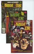 "Silver Age (1956-1969):Horror, Twilight Zone File Copies Box Lot (Gold Key, 1969-83) Condition:Average VF+. Take a trip through the ""Zone"" with this short..."