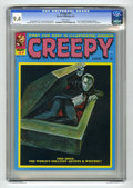 Magazines:Horror, Creepy #47 (Warren, 1972) CGC NM 9.4 White pages. Reed Crandall biography and photo. Cover painting miscredited to Sanjulian...