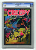 "Bronze Age (1970-1979):Horror, Creepy #74 (Warren, 1975) CGC NM- 9.2 White pages. 1975 Yearbook.Cover and art by Reed Crandall. ""Beast of Bacon Street"" st..."