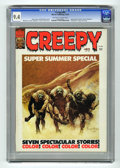 Bronze Age (1970-1979):Horror, Creepy #83 (Warren, 1976) CGC NM 9.4 Off-white to white pages.Super Summer Special. Bernie Wrightson frontispiece. Eight-pa...