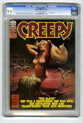 Modern Age (1980-Present):Horror, Creepy #123 (Warren, 1980) CGC NM+ 9.6 Off-white to white pages.Ken Kelly cover. Alfredo Alcala, Carmine Infantino, Dan Adk...