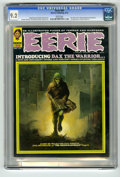 Magazines:Horror, Eerie #39 (Warren, 1972) CGC NM- 9.2 White pages. First appearance of Dax the Warrior. Ken Kelly cover. Esteban Maroto, Dave...