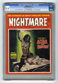 Bronze Age (1970-1979):Horror, Nightmare #7 (Skywald, 1972) CGC NM 9.4 Off-white to white pages.Dracula article and photos. Cover by Pujolar. Pablo Marcos...