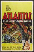 "Movie Posters:Adventure, Atlantis, the Lost Continent (MGM, 1961). One Sheet (27"" X 41""). AGreek fisherman rescues a lost princess, and is enslaved ..."