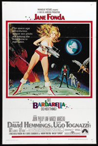 """Barbarella (Paramount, 1968). One Sheet (27"""" X 41""""). Jane Fonda stars as a highly sexual woman tasked with fin..."""