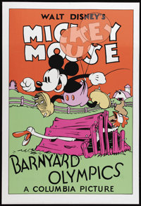"Barnyard Olympics (Columbia, 1932). Fine Art Serigraph Circa 1980s (22"" X 30""). The one and only Mickey Mouse..."
