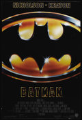 "Movie Posters:Action, Batman (Warner Brothers, 1989). One Sheet (27"" X 41""). Tim Burton'sdark depiction of the Caped Crusader stars Michael Keato..."