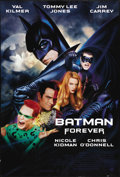 """Movie Posters:Action, Batman Forever (Warner Brothers, 1995). One Sheet (27"""" X 41""""). For this installment of the franchise, Val Kilmer dons the ca..."""
