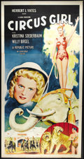 """Movie Posters:Adventure, Circus Girl (Republic, R-1956). Three Sheet (41"""" X 81""""). JuneTravis plays a trapeze star who becomes the romantic bone of c..."""