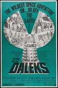 "Movie Posters:Science Fiction, Dr. Who and the Daleks (Continental, 1965). One Sheet (27"" X 41"").Before he was the Grand Moff Tarkin in ""Star Wars,"" Peter..."
