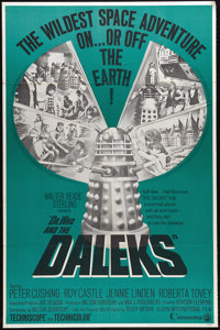 """Dr. Who and the Daleks (Continental, 1965). One Sheet (27"""" X 41""""). Before he was the Grand Moff Tarkin in &quo..."""