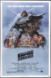 "The Empire Strikes Back (20th Century Fox, 1980). One Sheet (27"" X 41""). Filming for the much-anticipated sequ..."