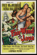 """Movie Posters:Adventure, Fair Wind to Java (Republic, 1953). One Sheet (27"""" X 41""""). Tough South Seas skipper Fred MacMurray goes hunting for pearls o..."""