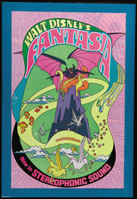 """Fantasia (RKO, R-1970). One Sheet (27"""" X 41""""). Disney's classic animated collections of vignettes set to class..."""
