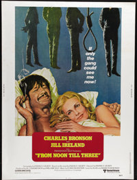 """From Noon Till Three (United Artists, 1976). Poster (30"""" X 40""""). Charles Bronson and Jill Ireland star in this..."""