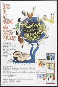 """A Global Affair (MGM, 1964). One Sheet (27"""" X 41""""). Bob Hope farce about a baby abandoned at the United Nation..."""