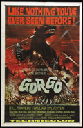 "Movie Posters:Science Fiction, Gorgo (MGM, 1961). One Sheet (27"" X 41""). Classic monster moviefeaturing an undersea monster attacking London. The film had..."