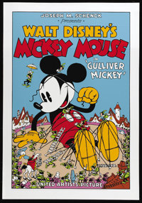 """Gulliver Mickey (United Artists, 1934). Fine Art Serigraph Circa 1980s (22"""" X 30""""). This gorgeous nine color f..."""
