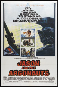"""Jason and the Argonauts (Columbia, 1963). One Sheet (27"""" X 41""""). Ray Harryhausen created the special effects f..."""
