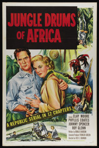 """Jungle Drums of Africa (Republic, 1953). One Sheet (27"""" X 41""""). Classic adventure serial about an intrepid exp..."""
