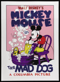 "Movie Posters:Animated, The Mad Dog (United Artists, 1932). Fine Art Serigraph Circa 1980s (22"" X 30""). This Walt Disney animated classic stars Mick..."