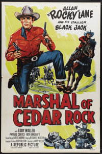"Marshal of Cedar Rock (Republic, 1952). One Sheet (27"" X 41""). Alan ""Rocky"" Lane and his stallion Bl..."