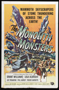 "Movie Posters:Science Fiction, The Monolith Monsters (Universal International, 1957). One Sheet(27"" X 41""). A meteor crashes near the town of San Angelo. ..."