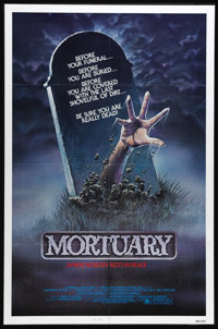 """Mortuary (Artists Releasing Corporation, 1983). One Sheet (27"""" X 41""""). This slasher film stars Bill Paxton as..."""