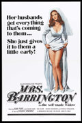 "Movie Posters:Bad Girl, Mrs. Barrington (Monarch, 1974). One Sheet (27"" X 41""). Kim Popestars as the ""self-made widow"" in this dark comedy about a ..."