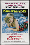 """Movie Posters:Comedy, My Pleasure Is My Business (Brian Distributing Corporation, 1975). One Sheet (27"""" X 41""""). """"Happy Hooker"""" author Xaviera Holl..."""