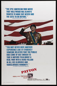 """Patton (20th Century Fox, 1970). One Sheet (27"""" X 41""""). This film about the all-too-human World War II general..."""