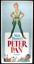 "Movie Posters:Animated, Peter Pan (Buena Vista, R-1969). Three Sheet (39"" X 76.5""). WaltDisney's classic cartoon based on the James Barrie children..."