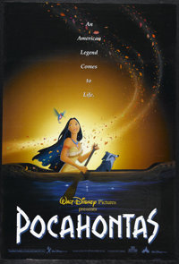 "Pocahontas (Buena Vista, 1995). One Sheet (27"" X 41""). ""You can own the earth and still, all you'll own i..."