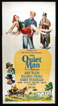 "The Quiet Man (Republic, 1952). Three Sheet (41"" X 81""). John Ford earned a Best Director Oscar for this film..."