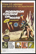 """Movie Posters:Science Fiction, Robinson Crusoe On Mars (Paramount, 1964). One Sheet (27"""" X 41"""").Adam West (TV's """"Batman"""") gets killed off early in this sc..."""