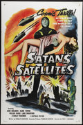 """Movie Posters:Science Fiction, Satan's Satellites (Republic, 1958). One Sheet (27"""" X 41""""). Feature-length adaptation of the Republic serial """"Zombies of the..."""