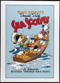 "Movie Posters:Animated, Sea Scouts (RKO, 1939). Fine Art Serigraph Circa 1980s (22"" X 30""). This Walt Disney animated classic stars that firecracker..."