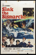 """Movie Posters:War, Sink the Bismarck! (20th Century Fox, 1960). One Sheet (27"""" X 41"""").Lewis Gilbert's blockbuster film based on the C.S. Fores..."""