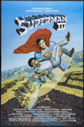 """Movie Posters:Adventure, Superman III (Warner Brothers, 1983). One Sheet (27"""" X 41"""").Synthetic Kryptonite splits Superman into the good Clark Kent a..."""