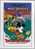 """Movie Posters:Animated, Touchdown Mickey (United Artists, 1932). Fine Art Serigraph Circa 1980s (22"""" X 30""""). This gorgeous 8 color fine art poster i..."""