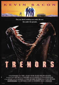 "Tremors (Universal, 1990). One Sheet (27"" X 41""). Being six degrees from Kevin Bacon isn't nearly far enough t..."