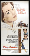 """Movie Posters:Drama, Two Loves (MGM, 1961). Three Sheet (41"""" X 81""""). Shirley MacLaine is a repressed American teacher at a school in New Zealand...."""