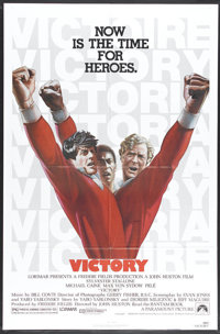 """Victory (Paramount, 1981). One Sheet (27"""" X 41""""). Allied prisoners of war are tapped for a soccer game against..."""