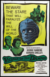"""Village of the Damned (Loews - MGM, 1960). One Sheet (27"""" X 41""""). Wolf Rilla directs this horror classic about..."""