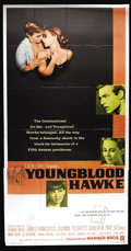 "Movie Posters:Drama, Youngblood Hawke (Warner Brothers, 1964). Three Sheet (41"" X 81""). Herman Wouk's gripping story of a backwoods Kentucky writ..."