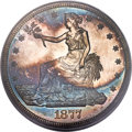 Proof Trade Dollars, 1877 T$1 PR65 Cameo PCGS. CAC....
