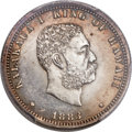 Coins of Hawaii , 1883 25C Hawaii Quarter PR62 PCGS. CAC....
