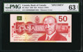 Canadian Currency: , BC-59aS $50 1988 Specimen.. ...